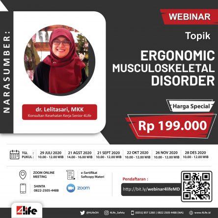 Webinar Ergonomic Musculoskeletal Disorder